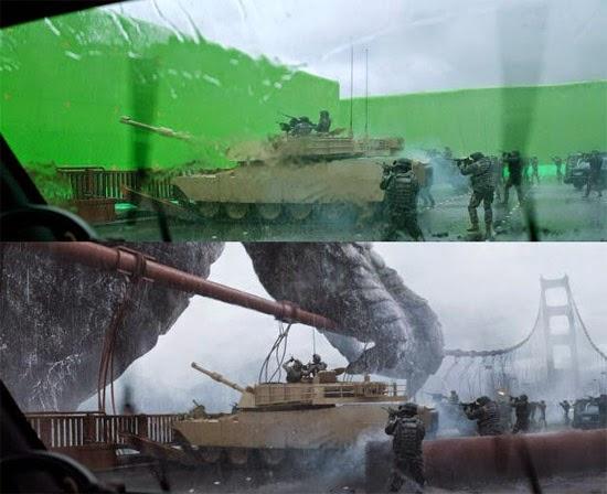 filme Godzilla efeitos especiais