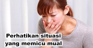 Perhatikan situasi yang memicu mual untuk membantu mengurangi morning sickness