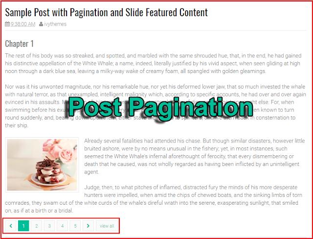 Cara Membuat Navigasi Untuk Post Blogger