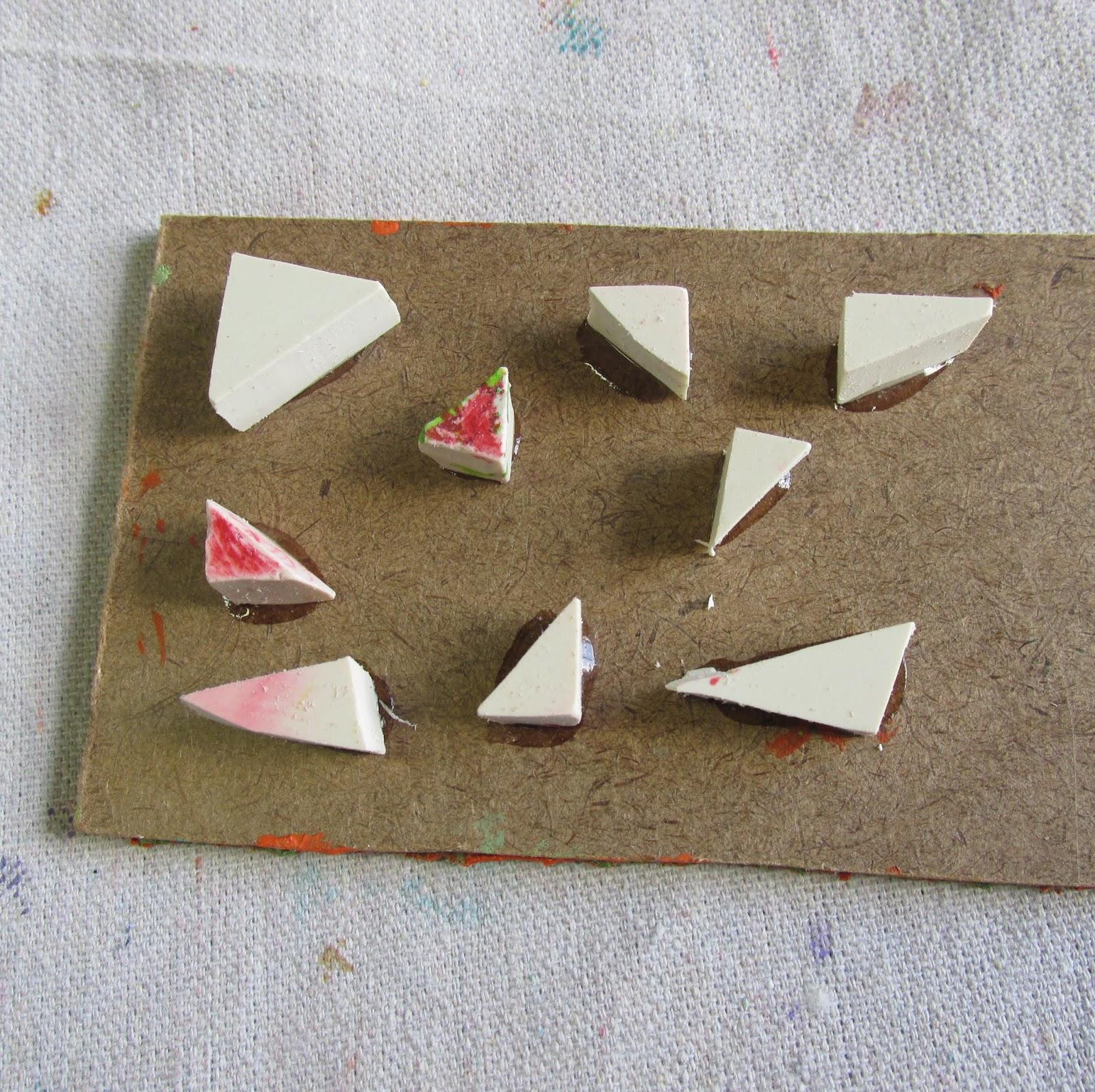 linoleum scraps