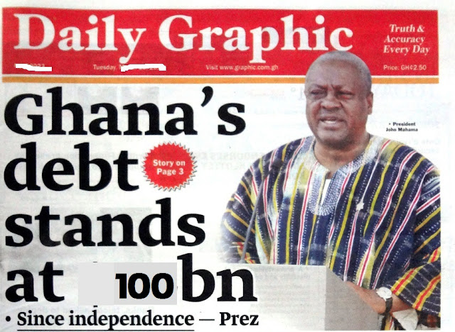 Government blows GHC100bn in 8 years