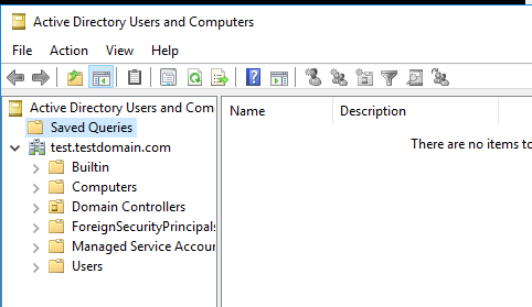 Active directory users and computers console