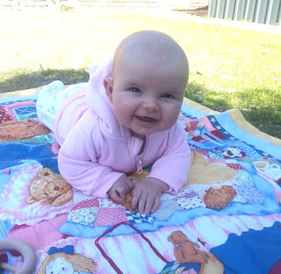 our darling Sophia aged 4 months