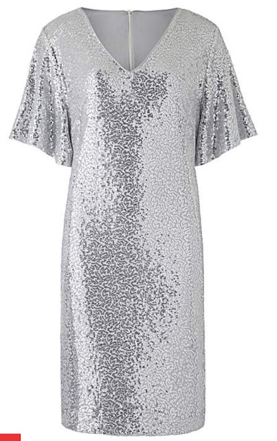 silver sequin ladies party dress