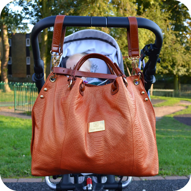 Nova Harley, ultimate baby bag, leather changing bag, changing bag review