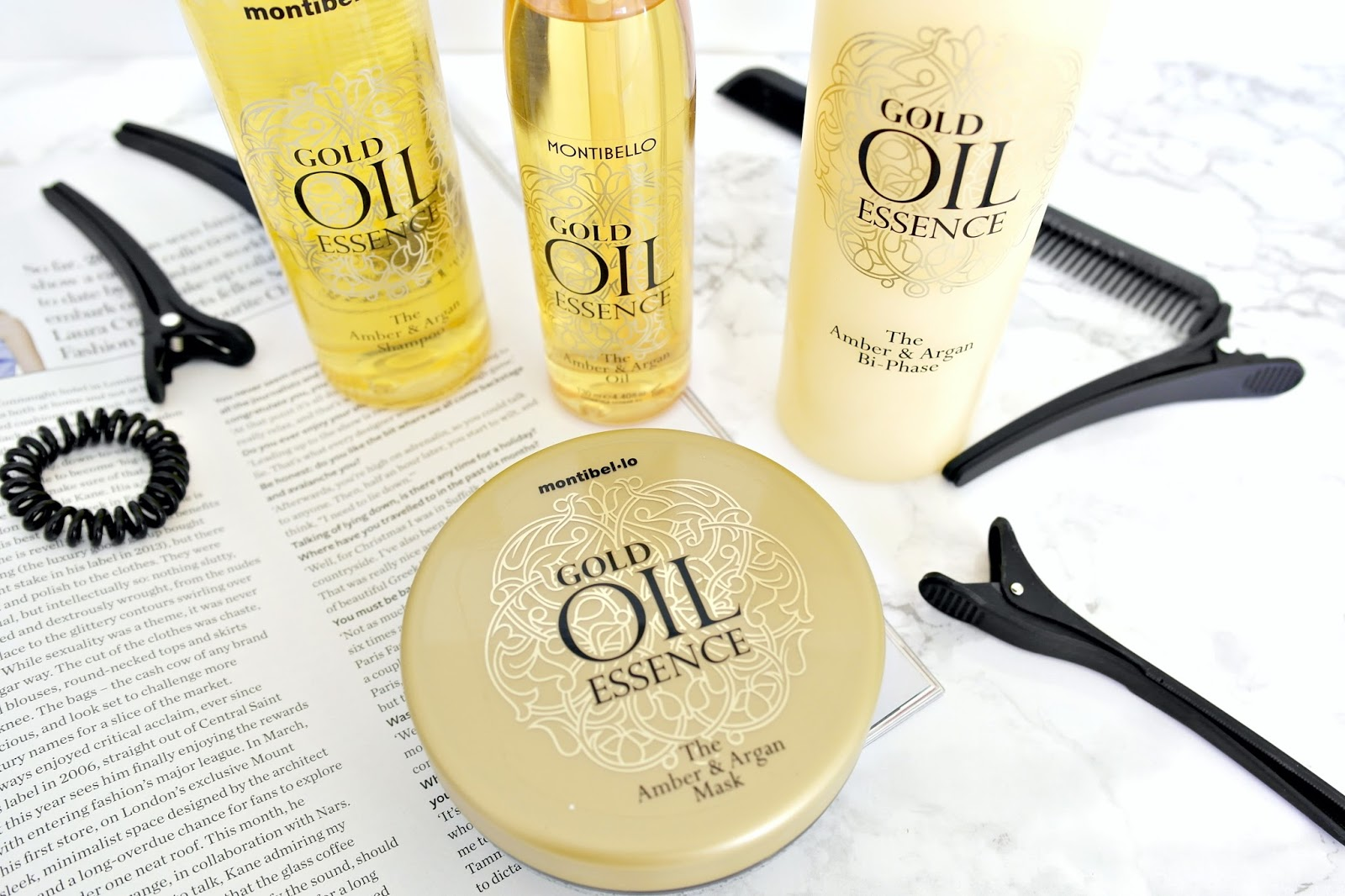 Montibello Golden Oil Essence Hair Range