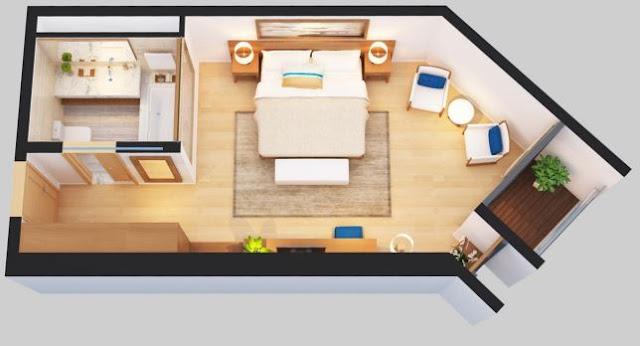 Thiết kế căn hộ 40.49 - 43.98 - 44.51m2