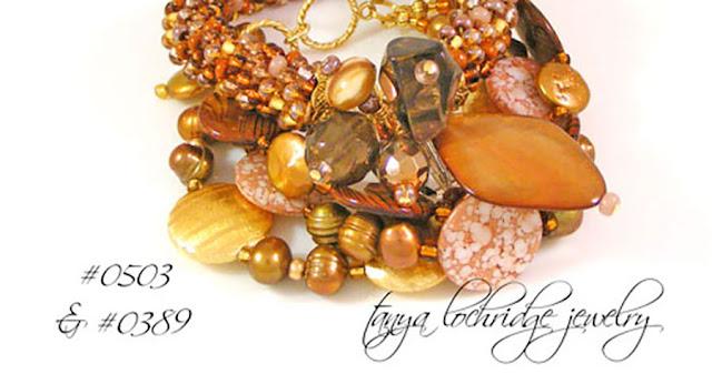 Tanya Lochridge Jewelry Smoky QUartz Gemstone Mother-of-Pearl Bangle