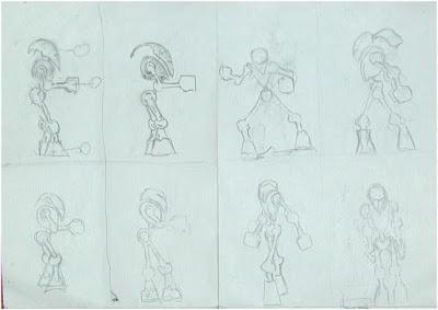 Creature Poses Sketch 1
