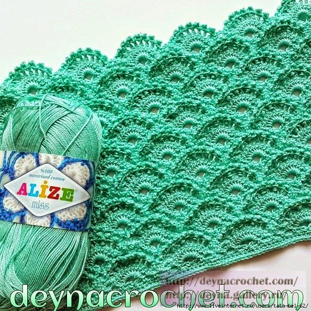 Punto abanicos crochet
