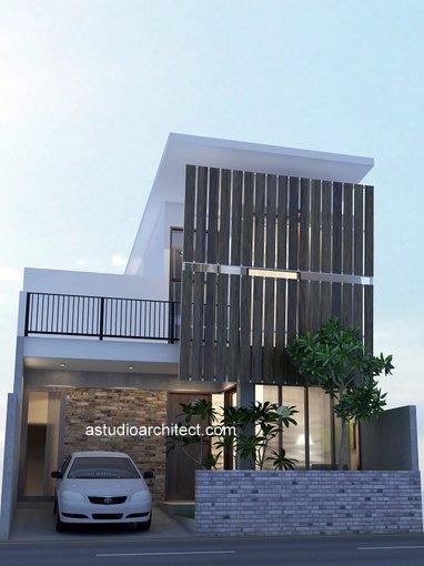 Desain rumah simple lahan lebar 8m