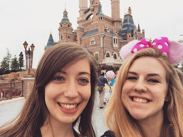 Selfies at the Enchanted Storybook Castle, Shanghai Disneyland, China