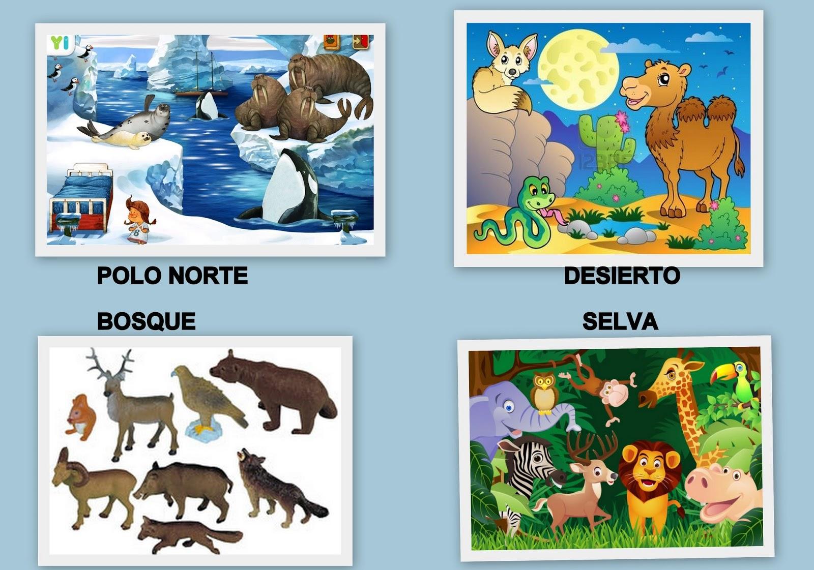 Las Cositas De La Maestra Ana Animales De Diferentes