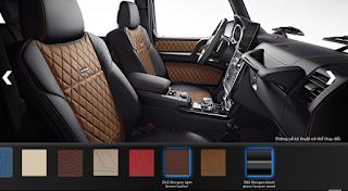 Nội thất Mercedes G500 Edition 35 2015 màu Nâu Leather ZH2