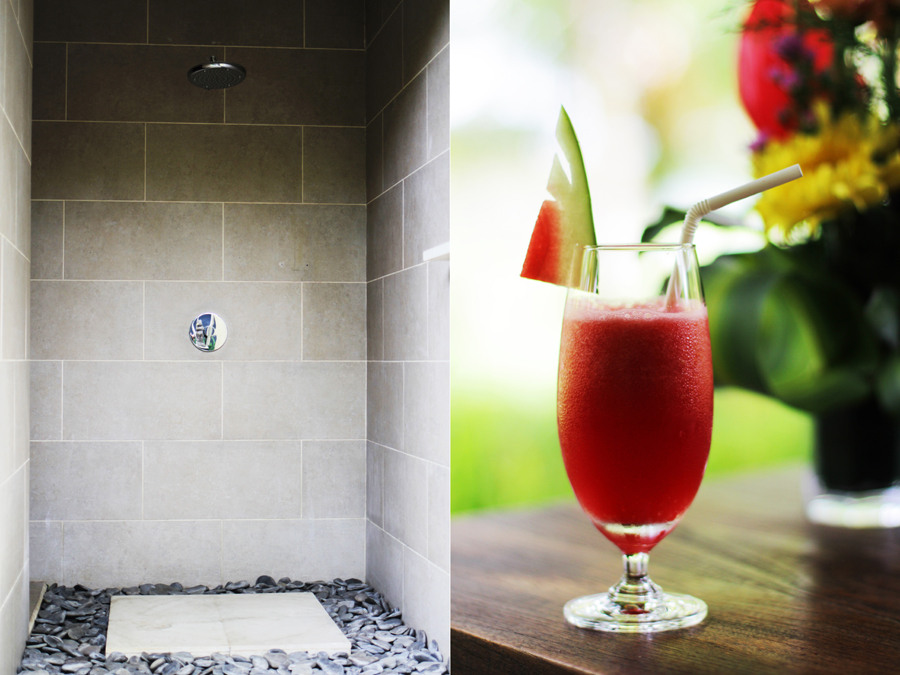 welcome drink shower