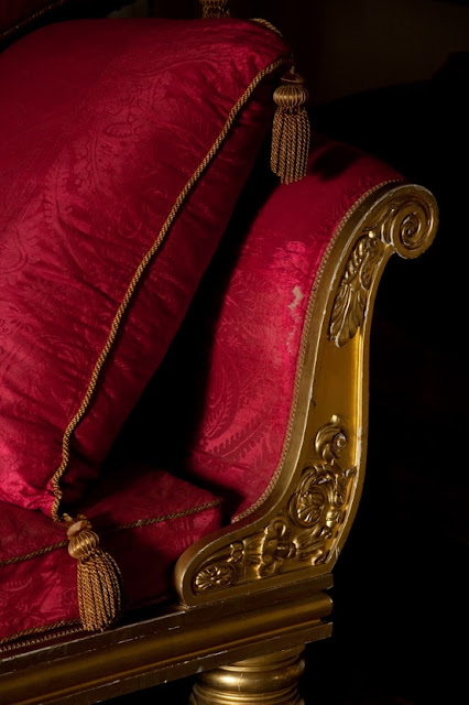 A corner of the Regency sofa in the Drawing Room at Felbrigg Hall - Norfolk, England