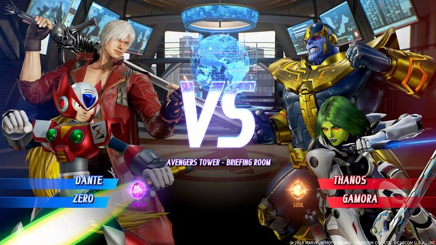 marvel vs capcom infinite dante zero gamora thanos