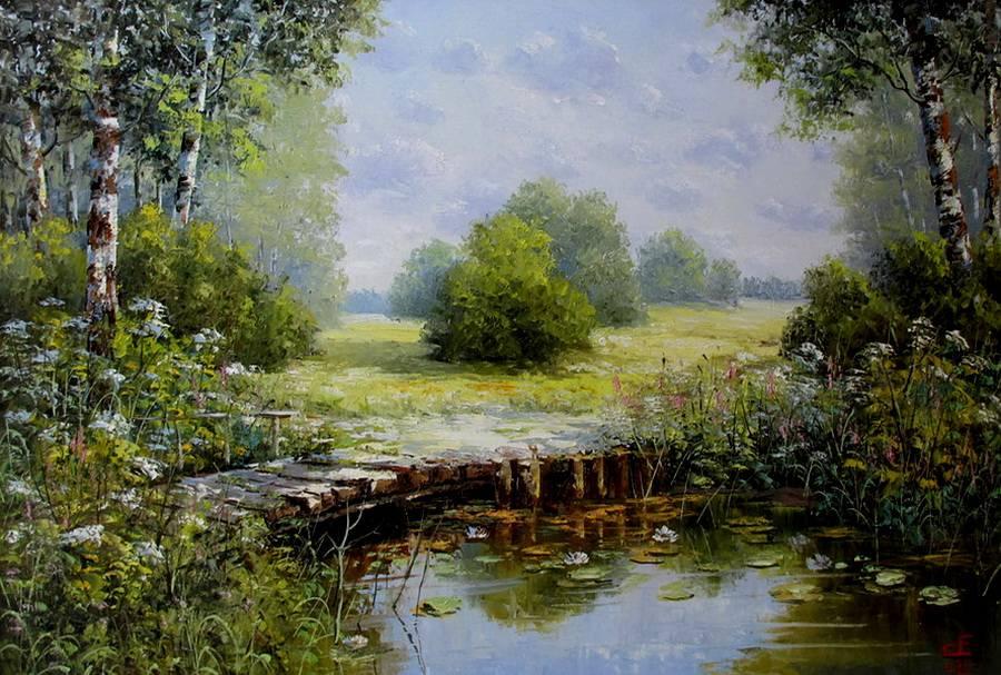 Деревенские пейзажи Евгения Синева