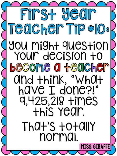 First year teacher tips and advice including how to handle the hard parts of the school year