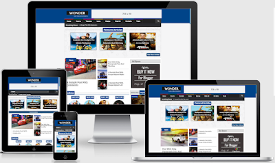 Wonder Responsive Blogger Template Free Download