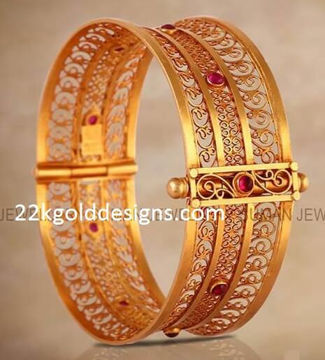 Broad Gold Bangle