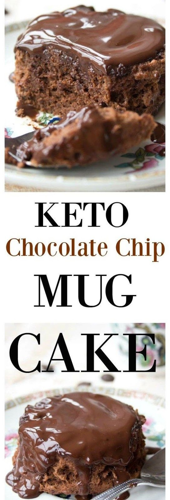 Keto chocolate chip mug cake