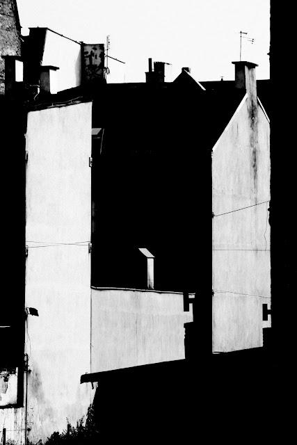 Katowice. Koncepcyjna fotografia. Abstrakcja. Krajobraz miejski. Fotografia odklejona. fot. Łukasz Cyrus