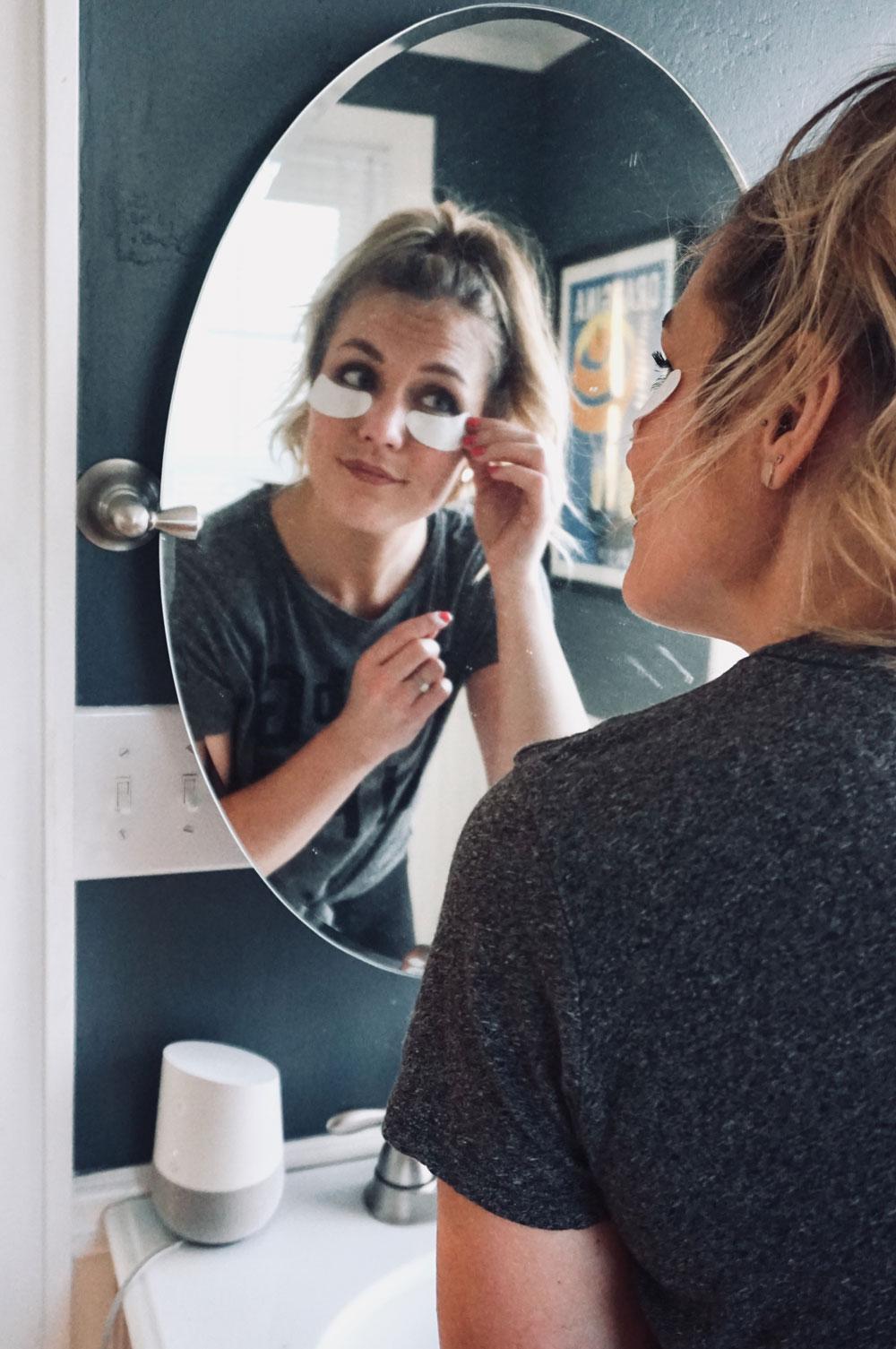 eye mask application