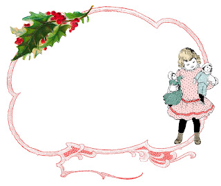frame border christmas toys dolls digital image download