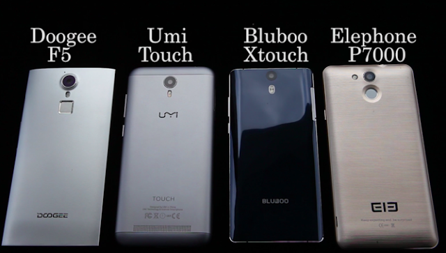 Bluboo Xtouch vs UMI Touch vs Elephone P7000 vs Doogee F5 - A comparison between 4 flagship smartphones