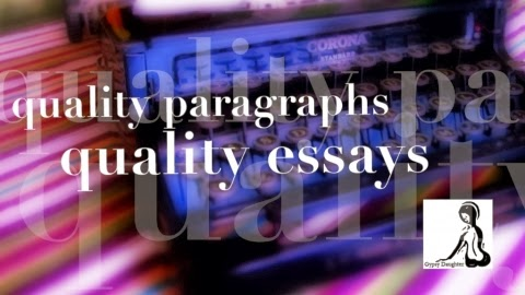 Want to write better paragraphs and essays?  Try my online course!