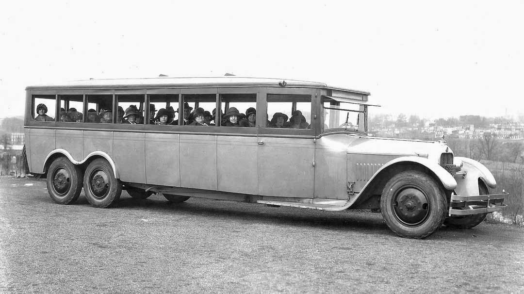 The bus was built under license from Goodyear by The Six-Wheel Co. Earlier  Ellis W. Templin developed and filed a patent for the design of the  Six-Wheel ...