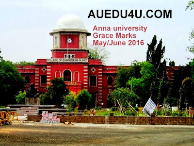 View Anna university Grace marks may June 2016