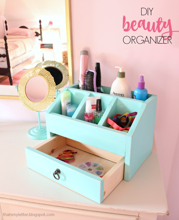 That's My Letter: DIY Beauty Organizer