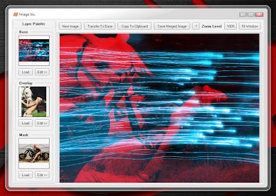 Pequeño programa para combinar, mezclar y superponer imágenes.