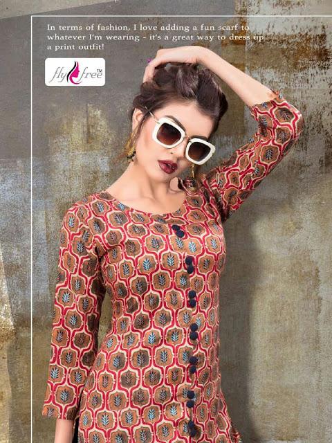 Flyfree Berry vol 4 Daily wear new Designer kurtis wholesaler