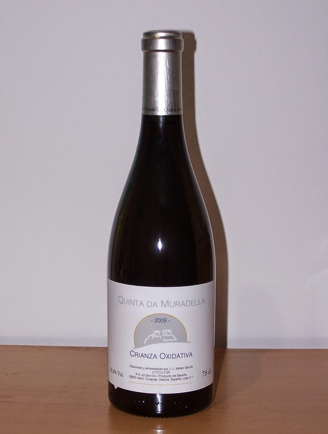 Quinta da Muradella Crianza Oxidativa 2009, Vino de mesa