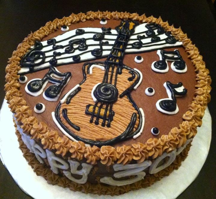 Sweet Treats By Susan: Guitar/Musical Notes Cake :