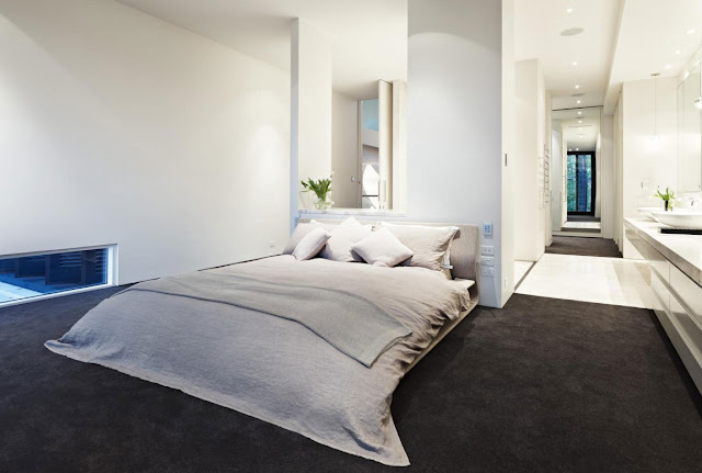 Minimal bed in the bedroom