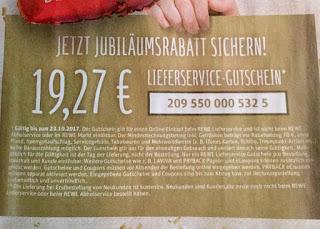 19,32 Euro Rabatt bei 70 Euro Einkauf sichern! REWE Lieferservice
