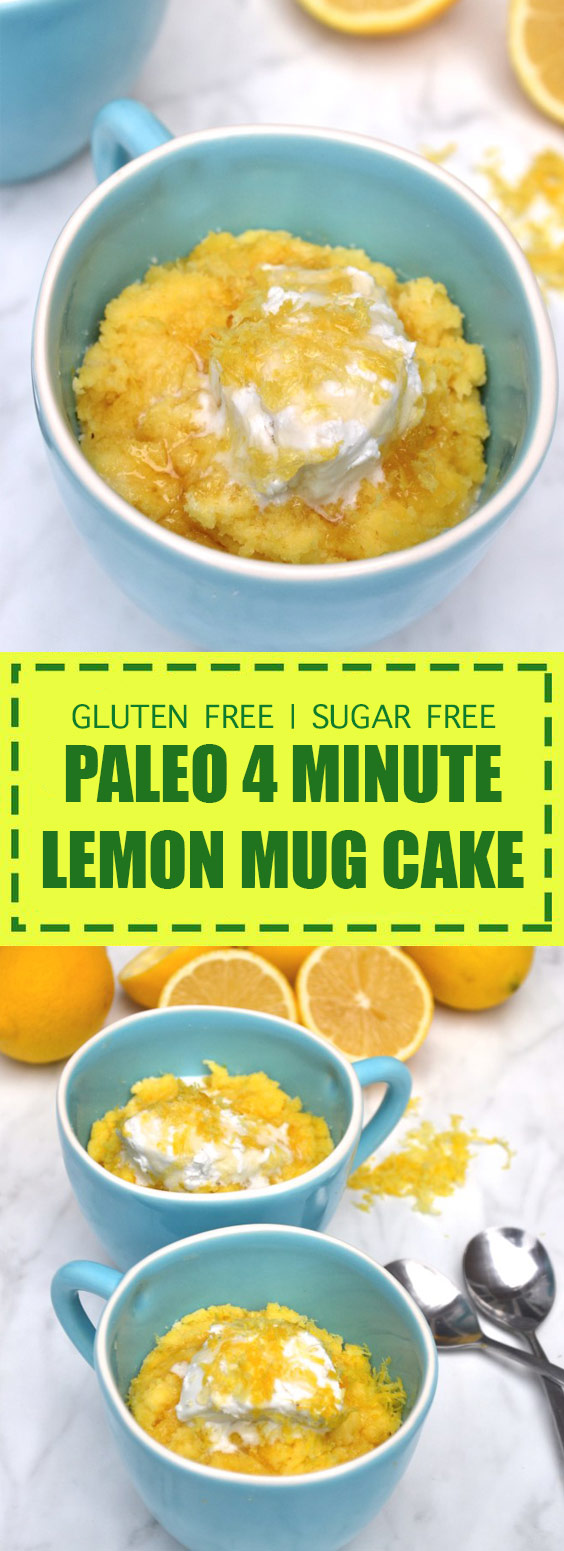4 Minute Lemon Mug Cake
