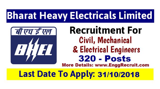 BHEL Recruitment 2018 for Technician Apprentices