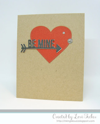 Be Mine card-designed by Lori Tecler/Inking Aloud-dies from My Favorite Things