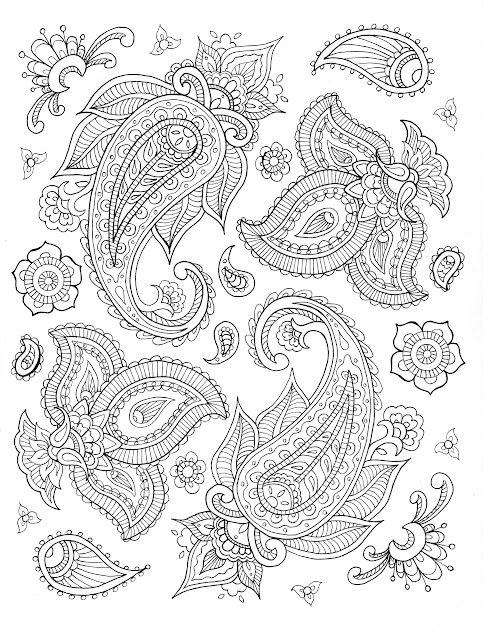 Ehow  Free Printable Coloring Pages By Sarah Hamilton  Paisley  Http