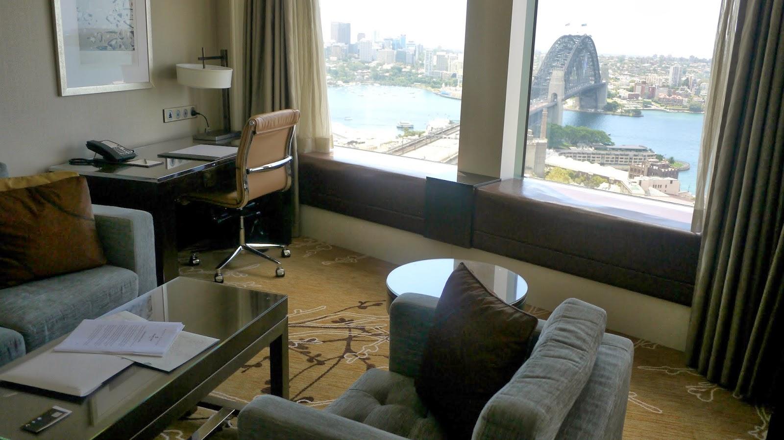 Shangri La hotel Sydney Premier Grand Harbour View room