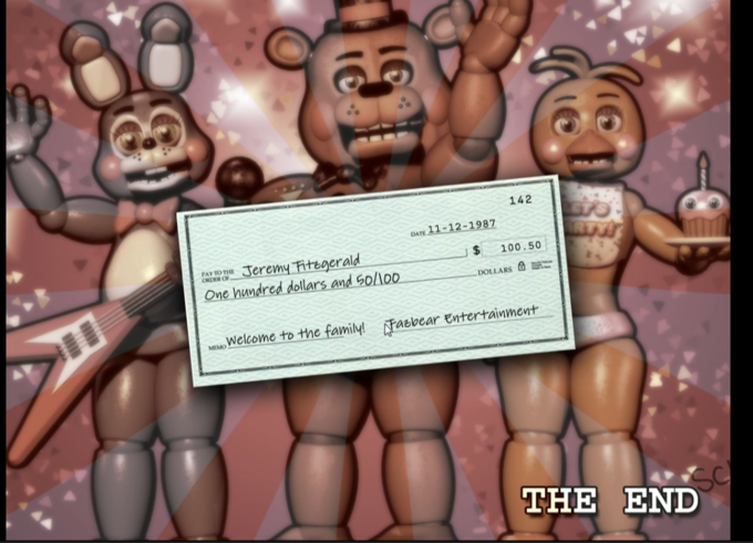 It actually shows the payment of the new night guard jeremy fitzgerald