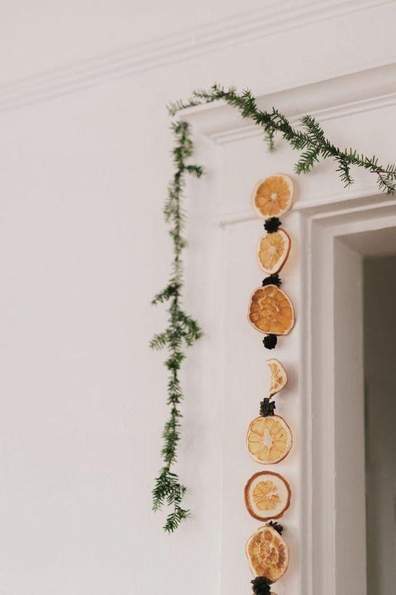 dried orange christmas decor
