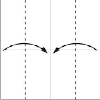 Bước 2: Gấp 2 cạnh tờ giấy vào trong.