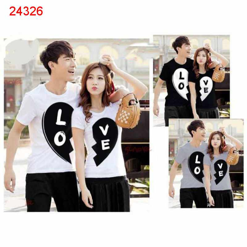 Jual Baju Couple Black Love - 24326