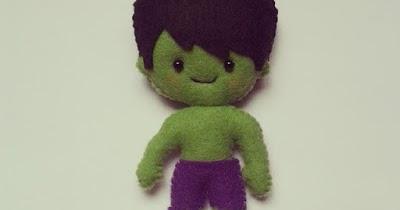 Hulk Em Feltro Com Moldes Para Imprimir Feltro E Moldes Para